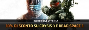 Sconto del 30% per Dead Space 3 e Crysis 3 su Origin