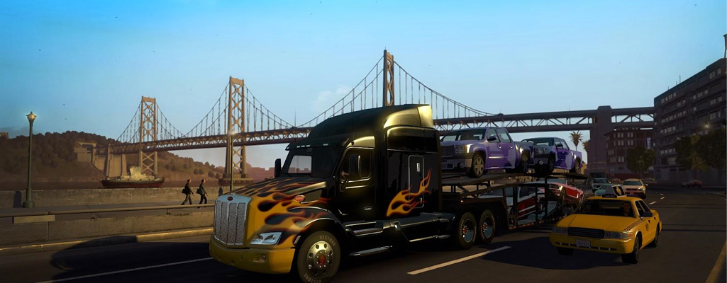 american truck simulator on the road recensione. Black Bedroom Furniture Sets. Home Design Ideas